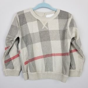 Burberry classic plaid sweater